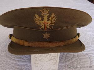 Antigua gorra de alferez de la epoca de franco.