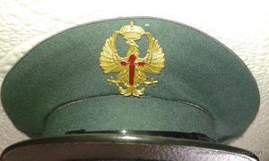 Antigua gorra de especialista fiscal de la Guardia Civil
