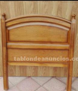Dos cabeceros de madera cama de 90