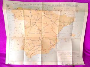 EL PRIMER MAPA HISTORICO ORIGINAL DE LOS FERROCARRILES DE