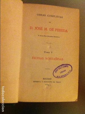 ESCENAS MONTAÑESAS POR JOSÉ M. DE PEREDA