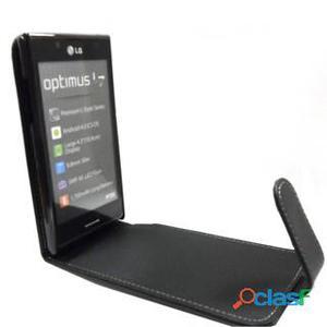 Funda Flip type para LG Optimus L7 P700/P705 (Color: Negro)