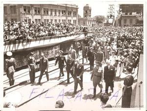 Generalísimo Franco en Valencia. Botadura de Barco. 30
