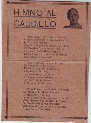 HIMNO AL CAUDILLO