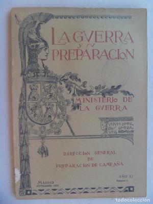 LA GUERRA Y SU PREPARACION. MINISTERIO DE LA GUERRA. Nº 3,