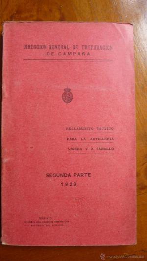 Libro Dirección general de Preparación de Campaña.