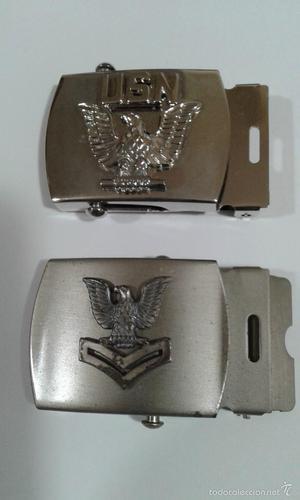 Lote de dos hebillas de la Navy, ejercito de los EE.UU.