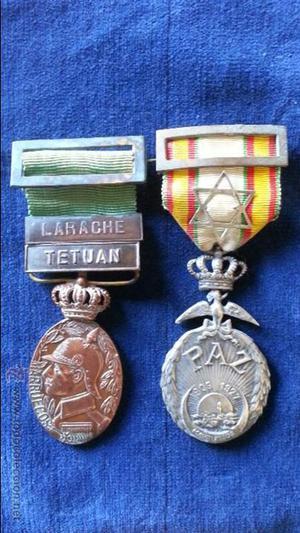 Medalla de la Paz Original y Medalla Original Larache -