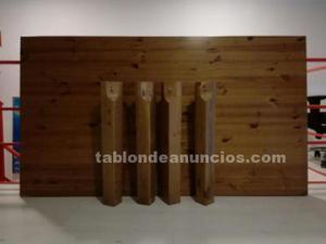 Mesa maziza de pino