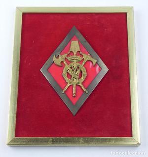 Metopa con emblema de Gastadores de Infanteria de Franco, el