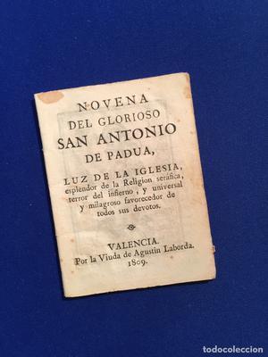 Novena del gloriosos San Antonio de Padua. VALENCIA