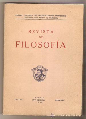 REVISTA DE FILOSOFÍA (NÚMS.  JULIO-DICIEMBRE AÑO