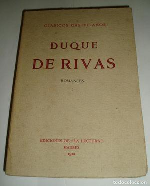 ROMANCE DUQUE DE RIVAS ROMANCES. TOMO I Y II.