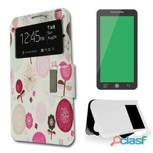 X-One Funda Libro Samsung S6 Edge Plus Flor