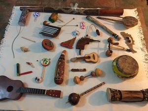 conjunto instrumentos música