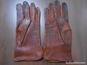 guantes de piel años 40 o guerra civil sin forro
