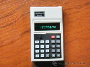 Antigua calculadora japonesa TOSHIBA HOMELAND  LEDS