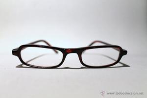 Gafas vintage - Montura de pasta marrón - cristales