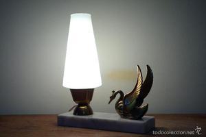 Lámpara de mesa vintage Art Decó mid century mediados s.XX