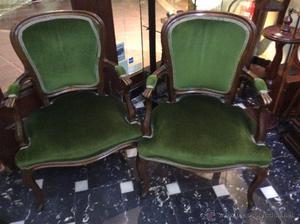 Pareja de sillones vintage segunda mano madrid posot class for Sillones segunda mano