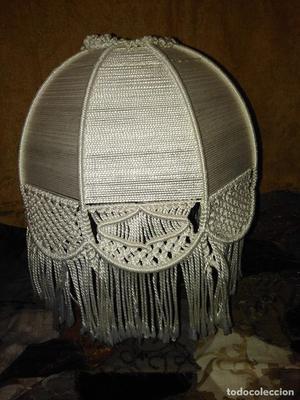 Pantalla de macrame vintage para lámpara