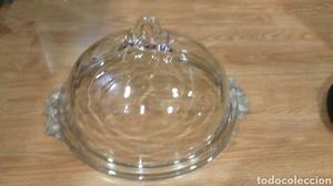 Quesera con campana cristal macizo