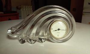 Reloj Vintage de cristal Walther Glas, Alemania, funciona
