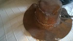 Sombrero de ante auténtico (sello peletero) con