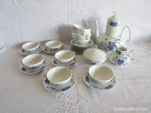 juego cafe te porcelana irabia