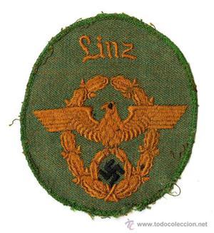 Bordado de brazo de la gendarmería alemana de la época de