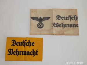 Brazalete 2 militar alemán de las milicias II guerra