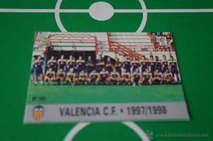 CROMO CARD DE FUTBOL:EQUIPO DEL VALENCIA C.F.,Nº191,LIGA