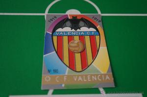 CROMO CARD DE FUTBOL:ESCUDO DEL VALENCIA C.F.,Nº190,LIGA