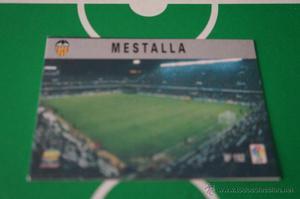 CROMO CARD DE FUTBOL:ESTADIO DEL VALENCIA C.F.,Nº192,LIGA