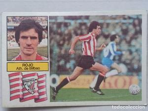 Cromo de Fútbol Baja Rojo Athlétic de Bilbao Recuperado