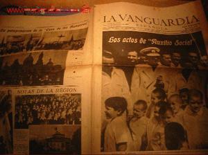 DIARIO LA VANGUARDIA AÑO  - LOS ACTOS DE AUXILIO SOCIAL