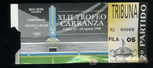 ENTRADA DEL TROFEO RAMON DE CARRANZA XLII,CADIZ 23 Y 24
