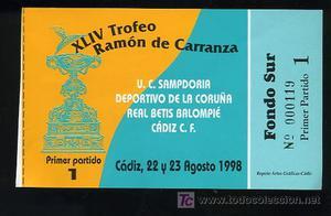 ENTRADA DEL TROFEO RAMON DE CARRANZA XLIV,CADIZ 22 Y 23