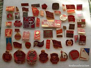 Lote 50 pins i insignias.Tematica-Congresos del Partido