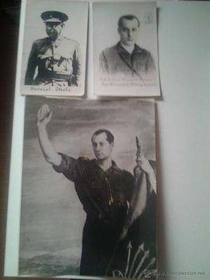 Postales patrioticas y retrato de Mola y Jose Antonio