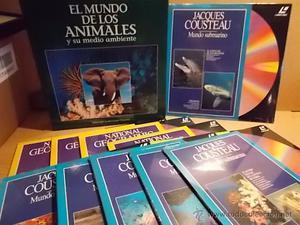 LÁSER DISC !! EL MUNDO DE LOS ANIMALES / NATIONAL Y JACQUES
