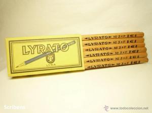 LYRA, ANTIGUO MAZO CON 12 LÁPICES GRAFITO LYRATO Nº  F