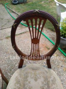 Lote de sillas de comedor antiguas