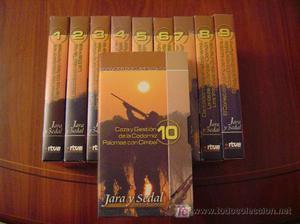 VIDEOS DE JARA Y SEDAL, SISTEMA VHS, 10 VIDEOS, NUEVOS SIN