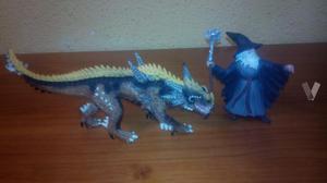figura pvc schleich dragon y mago