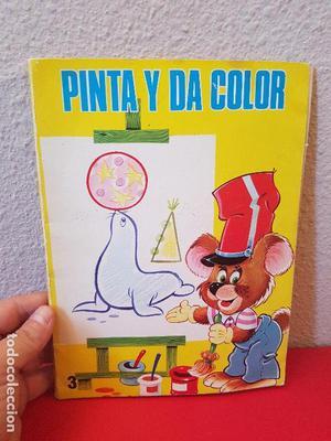 ANTIGUO LIBRO DE COLOREAR PINTA Y DA COLOR Nº 3