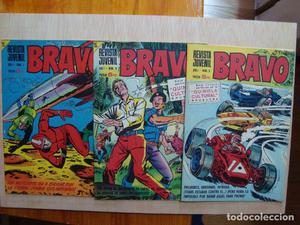 Bravo 1, 2 y 3 Bruguera  NO LES FALTAN LAS ESQUINAS