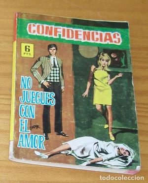 CONFIDENCIAS 420 NO JUEGUES CON EL AMOR. COMIC ROMANTICO