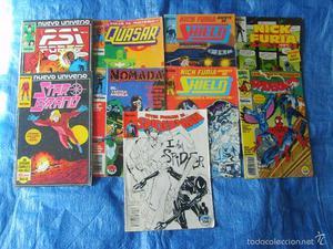 Lote 9 Comics Marvel (Spiderman-Nick Fury-Nomada-Star