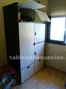 Ocasion armario de madera blanco y negro